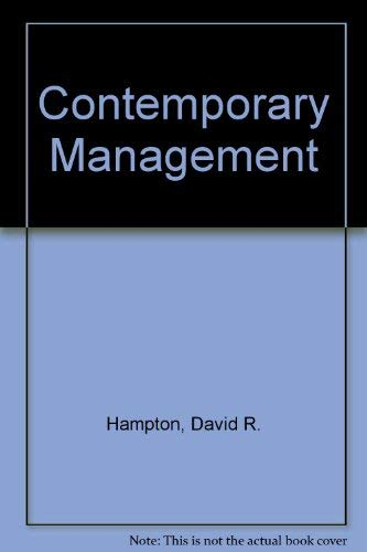 9780070259423: Management (Mcgraw-Hill Series in Management)