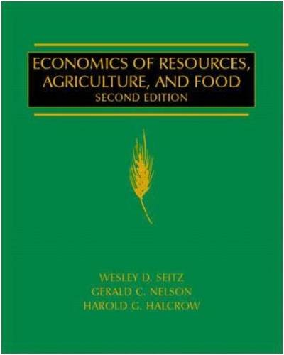 9780070259584: Economics of Resources, Agriculture and Food (McGraw-Hill Series in Agricultural Economics)