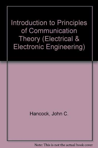 9780070259805: An Introduction to the Principles of Communication Theory