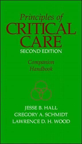 9780070260290: Principles of Critical Care Companion Handbook