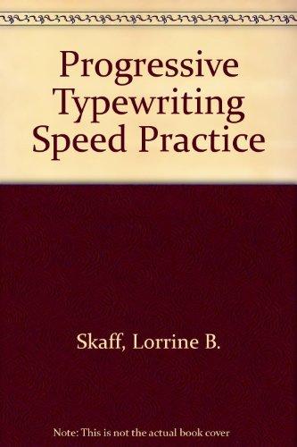 9780070260610: Progressive Typewriting Speed Practice
