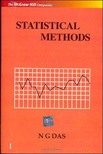 Statistical Methods, Vol. I: N. G. Das
