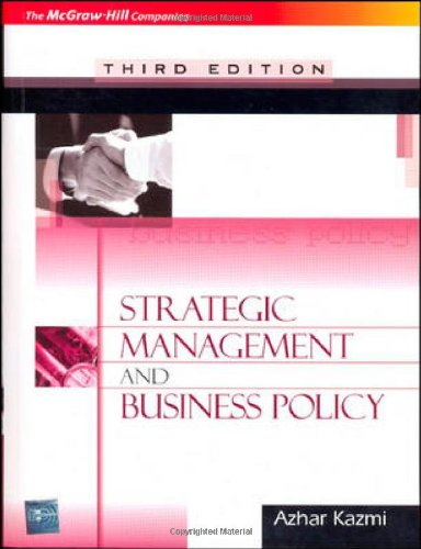 9780070263628: Strategic Management & Business Policy