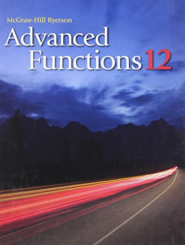 9780070266360: McGraw-Hill Ryerson: Advanced Functions 12