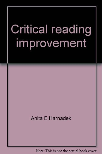 9780070266582: Critical reading improvement: A program for self-instruction