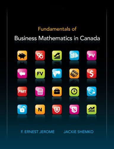Fundamentals of Business Mathematics in Canada: F. Ernest Jerome;