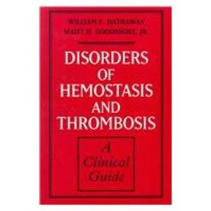 9780070270152: Disorders of Hemostasis and Thrombosis: A Clinical Guide