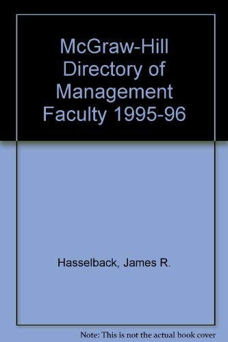 9780070270190: McGraw-Hill Directory of Management Faculty 1995-96