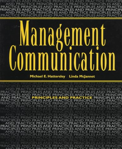 Management Commmunication: Principles and Practice: McJannet, Linda M,