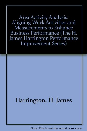 9780070270497: Area Activity Analysis Aligning Work Activities and Measurements to Enhance Business Performance