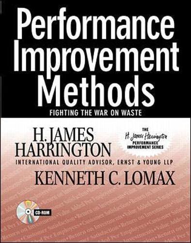 9780070271418: Performance Improvement Methods: Fighting the War on Waste (H.James Harrington Performance Improvement)