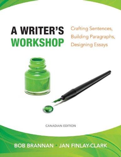 9780070271432: A Writer's Workshop: Crafting Sentences, Building Paragraphs, Designing Essays
