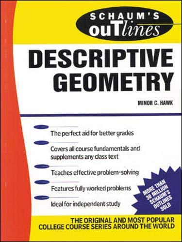 9780070272903: Schaum's Outline of Descriptive Geometry (Schaum's)