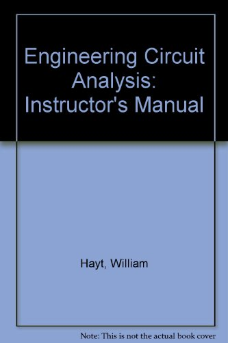 9780070274112: Engineering Circuit Analysis: Instructor's Manual