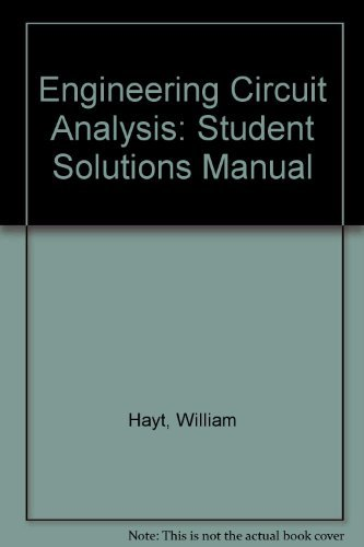 9780070274129: Engineering Circuit Analysis: Student Solutions Manual