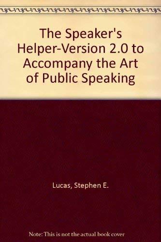 9780070274938: The Speaker's Helper-Version 2.0 to Accompany the Art of Public Speaking: IBM 3.5