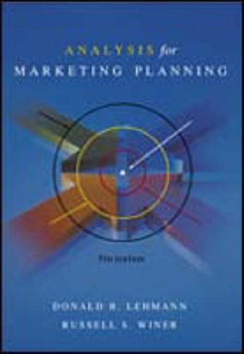 9780070275478: Analysis for Marketing Planning