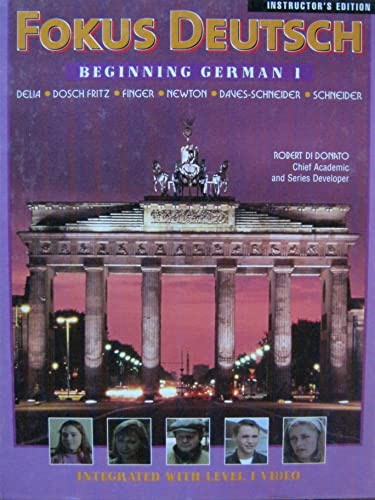9780070275966: Fokus Deutsch: Beginning German I (Instructor's Edition)
