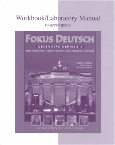 9780070276000: Workbook/Lab Manual to accompany Fokus Deutsch:  Beginning German 1