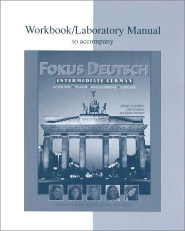 9780070276024: Workbook/Lab Manual to accompany Fokus Deutsch:  Intermediate German