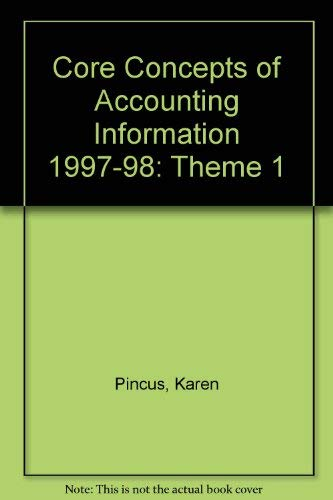 9780070276277: Core Concepts of Accounting Information 1997-98: Theme 1