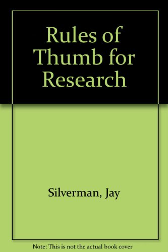 9780070276390: Rules of Thumb for Research
