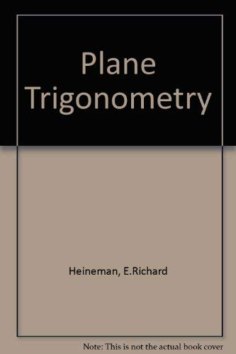 9780070279353: Plane Trigonometry