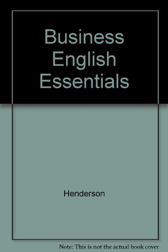9780070279834: Business English essentials