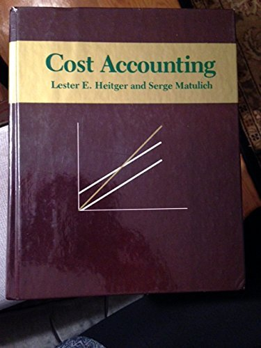 Stock image for Cost accounting for sale by Bayside Books