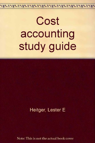 9780070279926 cost accounting study guide abebooks lester e rh abebooks com cost and management accounting n6 study guide Accounting Basics