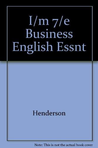 9780070280359: I/m 7/e Business English Essnt