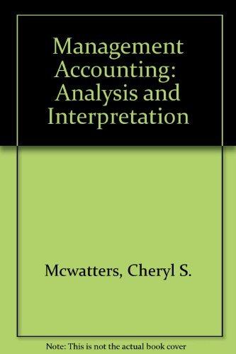 9780070283008: Management Accounting: Analysis and Interpretation