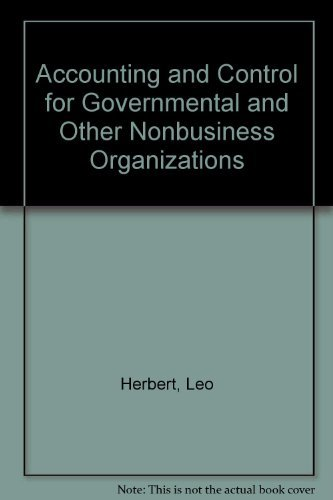 9780070283169: Accounting and Control for Governmental and Other Nonbusiness Organizations