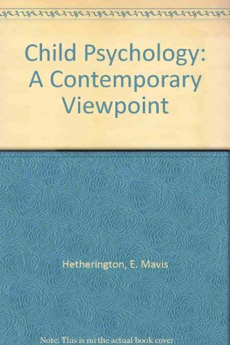 9780070284449: Child Psychology: A Contemporary Viewpoint