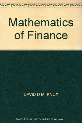 9780070285514: Mathematics of Finance