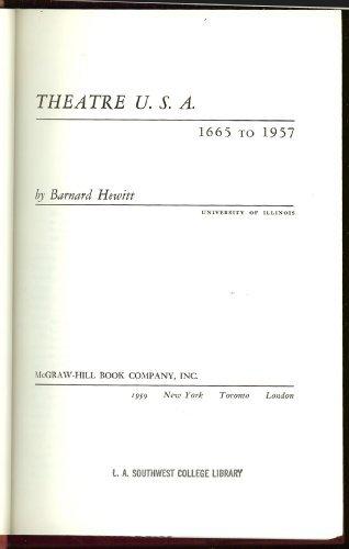 9780070285859: Theatre U.S.A., 1665 to 1957