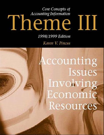 9780070285996: Theme III: Accounting Issues Involving Econimic Resources : 1998/1999 (Core Concepts of Accounting Information)