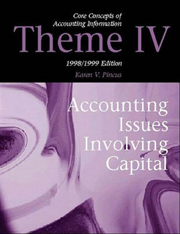 9780070286009: Core Concepts in Accounting Information 1998-1999: Theme IV : Accounting Issues in Involving Capital
