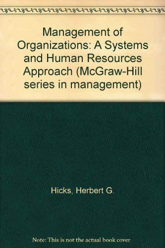 9780070287211: The management of organizations (McGraw-Hill series in management)