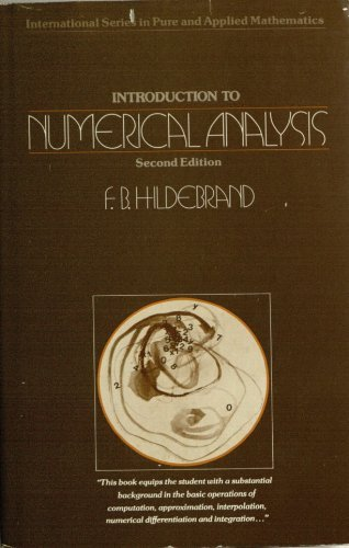 Introduction to Numerical Analysis (Pure & Applied: Hildebrand, Francis Begnaud
