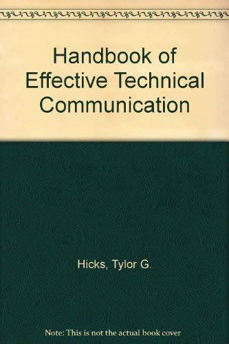 9780070287815: Handbook of Effective Technical Communications