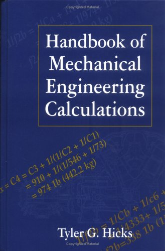 9780070288133: Handbook of Mechanical Engineering Calculations