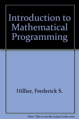 9780070289390: Introduction to Mathematical Programming