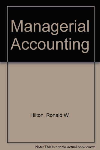 9780070290013: Managerial Accounting