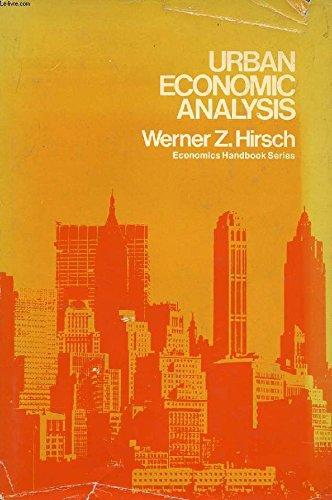 9780070290440: Urban Economic Analysis (Economics handbook series)