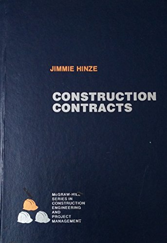 9780070290815: Construction Contracts (McGraw-Hill Series in Psychology)