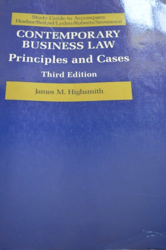 9780070291676: Study guide to accompany Hoeber/Reitzel/Lyden/Roberts/Severance, Contemporary business law: Principles and cases, second edition