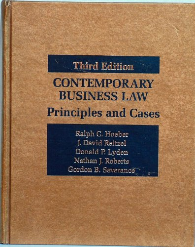 9780070291720: Study guide to accompany Hoeber/Reitzel/Lyden/Roberts/Severance, Contemporary business law: Principles and cases, third edition
