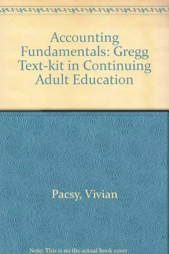 9780070292109: Accounting Fundamentals: A Gregg Text-Kit in Continuing Adult Education (Continuing education series)