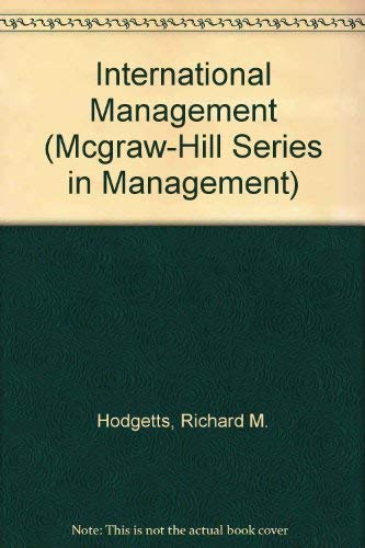9780070292222: International Management (Mcgraw-Hill Series in Management)